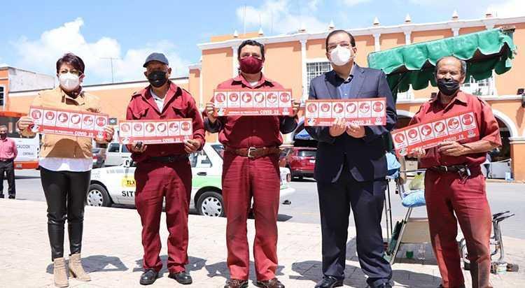 Mantienen autoridades de Huamantla campañas de prevención contra COVID-19