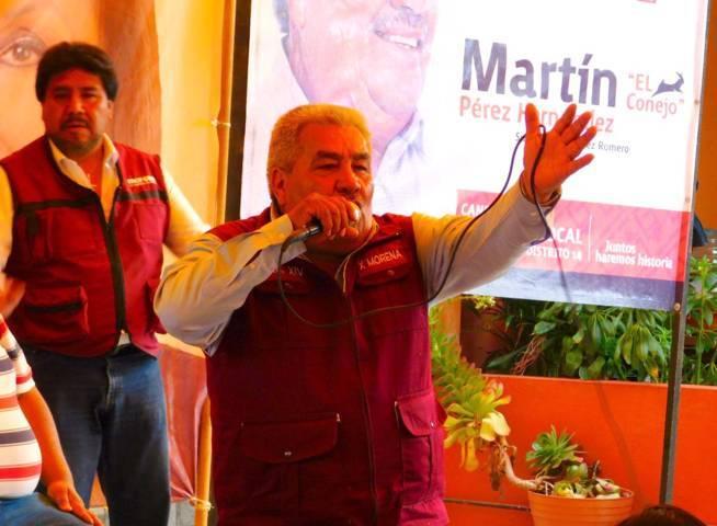 Texoloc se suma Martín Pérez y va por MORENA en línea