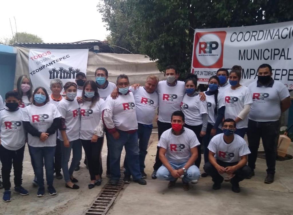 RSP Tzompantepec primera coordinación Municipal en Tlaxcala; Avala Chio