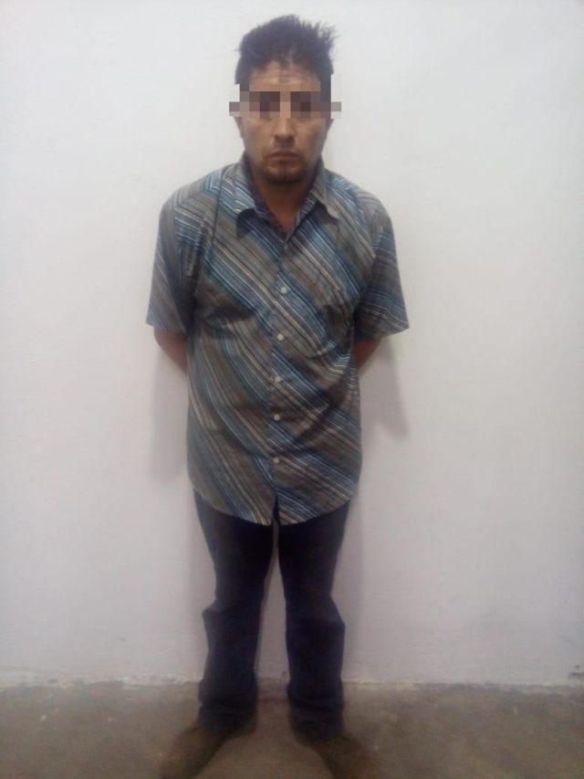 Asegura Policía de Apizaco a sujeto por robo de vehículo con violencia