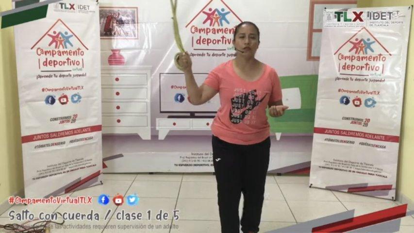 Participan infantes en Campamento Deportivo Virtual del Idet