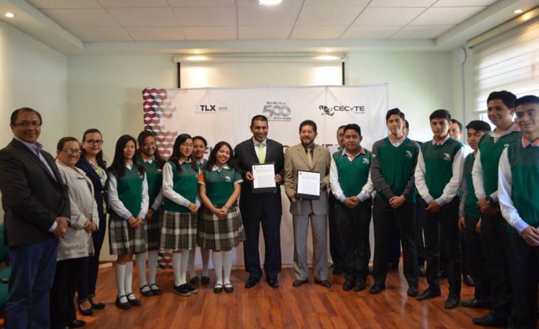 Firman CECYTE e ITEA convenio de colaboración para combatir rezago educativo