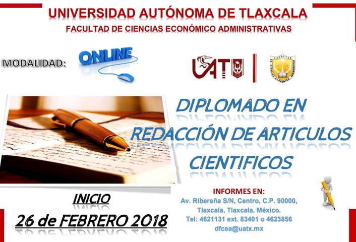 Impartirá UAT el Diplomado: Redacción de Artículos Científicos