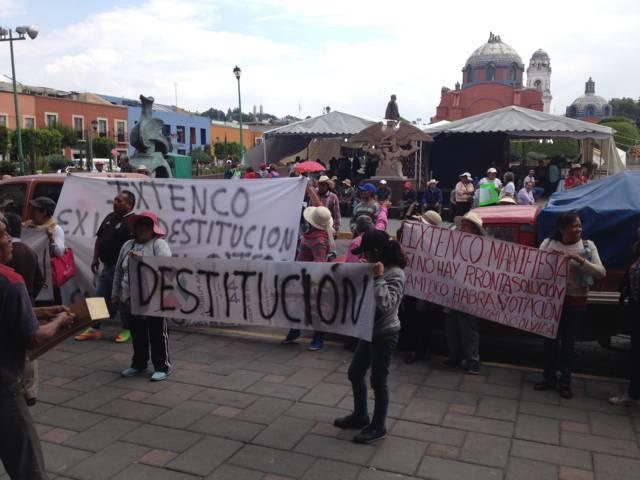 Nuevamente pobladores de Ixtenco se movilizan en la capital