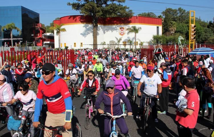 Organizó la UAT el Cuarto paseo ciclista universitario