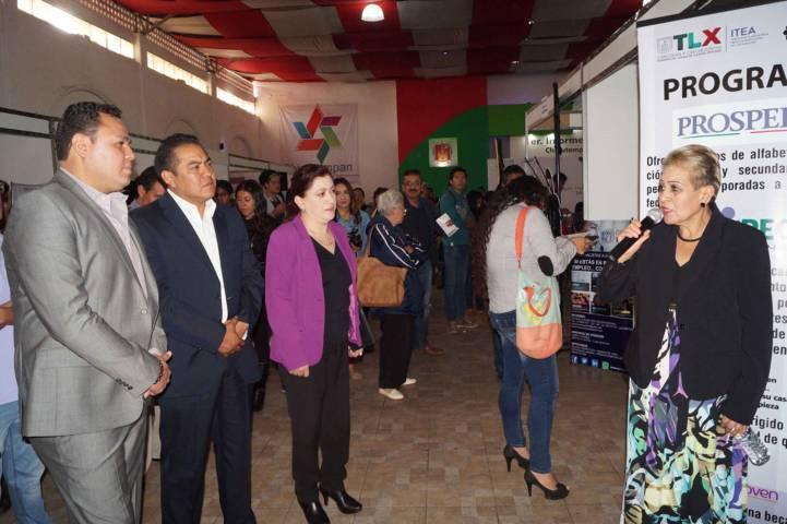 Realizó SEPUEDE Sexta Feria Nacional de Empleo en Chiautempan