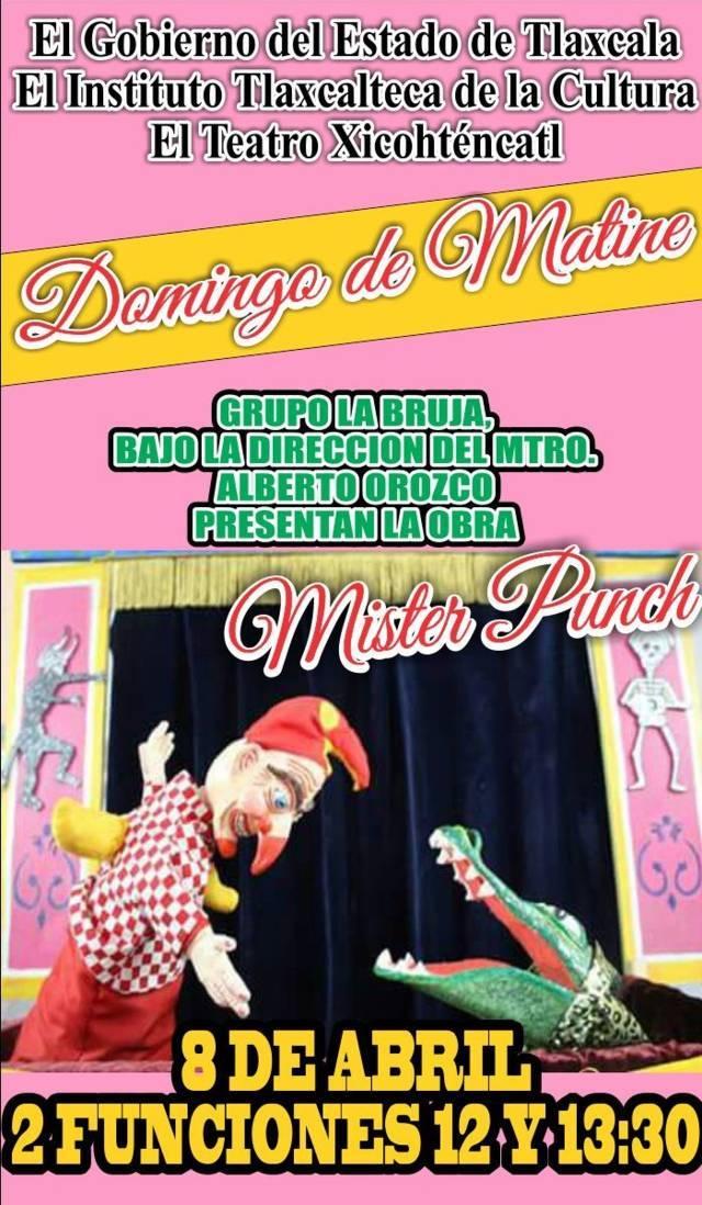 Presenta ITC en domingo de matiné la obra Mister Punch