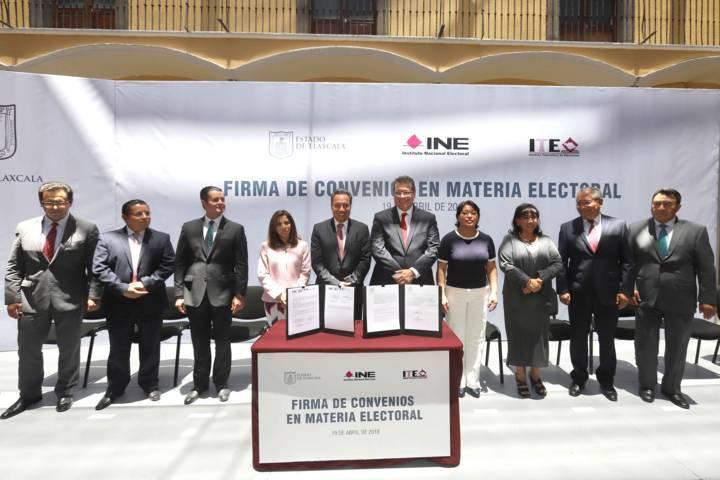 Entrega Gobierno del Estado 35 mdp al Instituto Tlaxcalteca de Elecciones