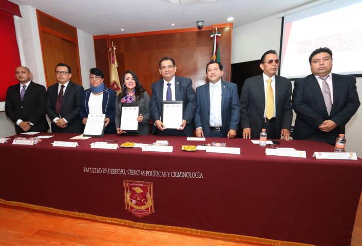 Firman convenio de colaboración la Facultad de Derecho de la UAT y el TSJE