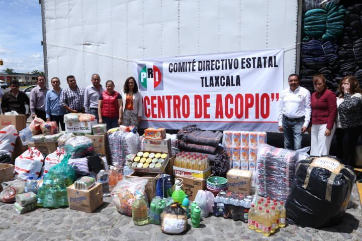 PRI Tlaxcala apoya a familias damnificadas por sismo