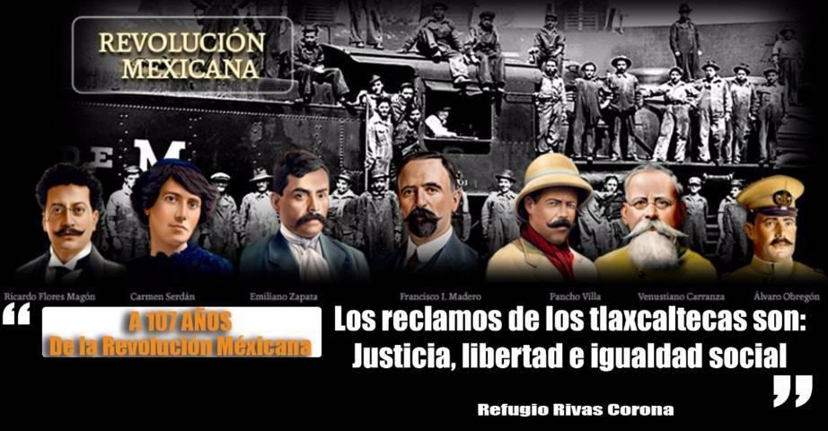 Justicia, libertad e igualdad social, los grandes reclamos de los tlaxcaltecas: Refugio Rivas