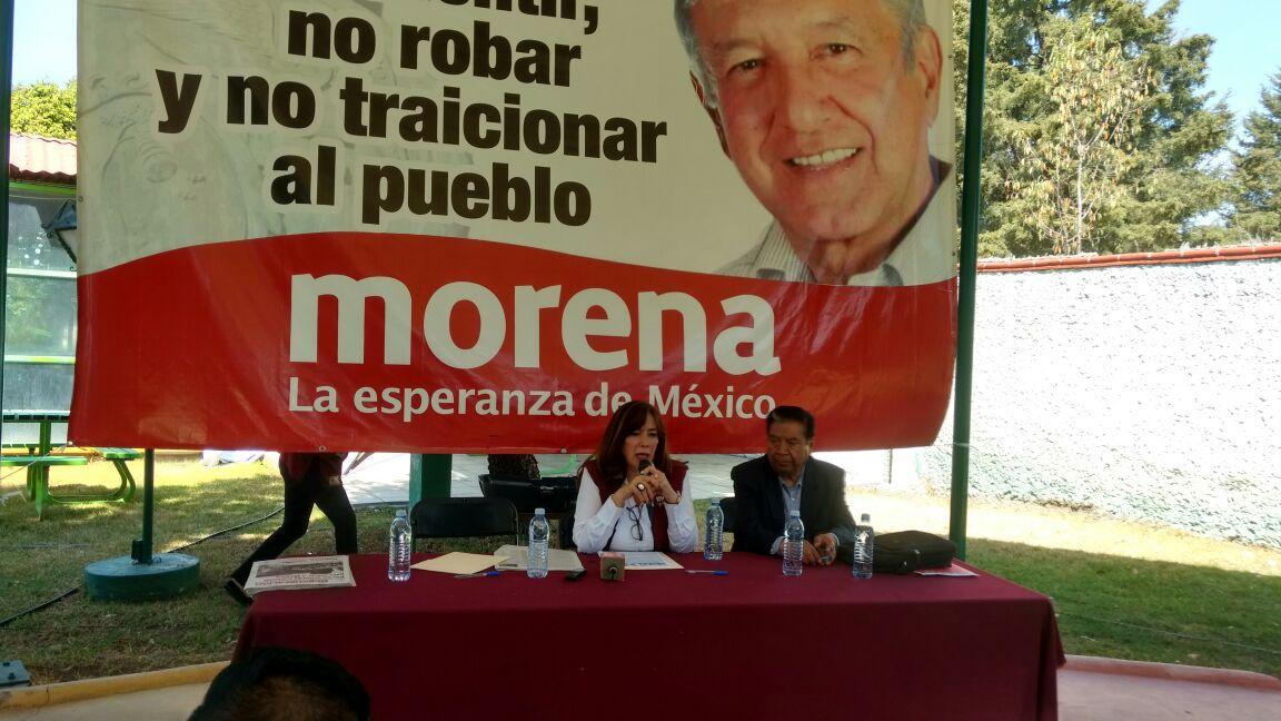 Secretaria general de Morena anuncia visita de AMLO