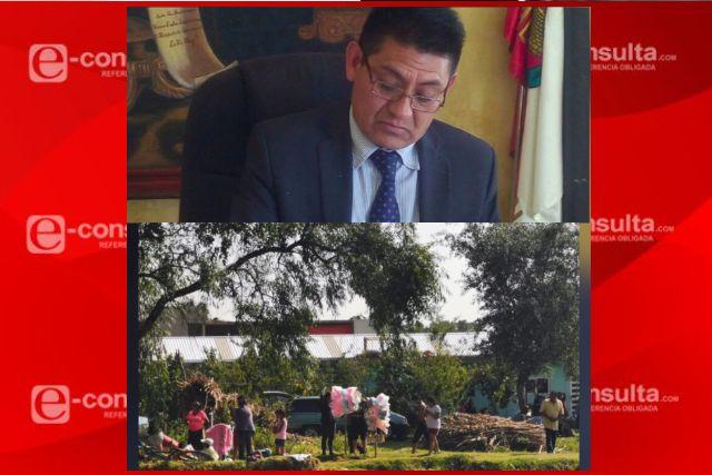 En la contingencia por COVID la gente se burla del inepto edil de Huatzinco