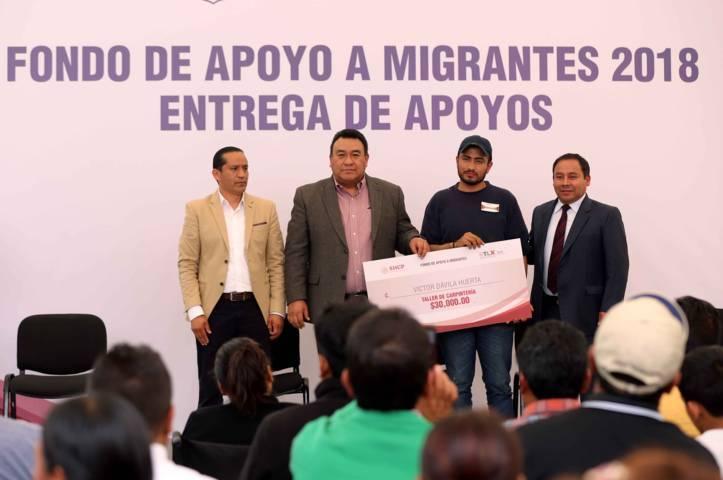 Entrega DAM apoyos económicos para respaldar 43 proyectos productivos de migrantes