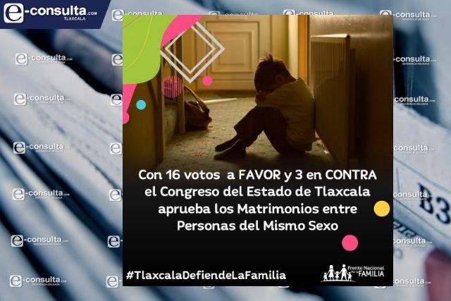Votan diputados de Tlaxcala en contra de la familia: Frente Nacional