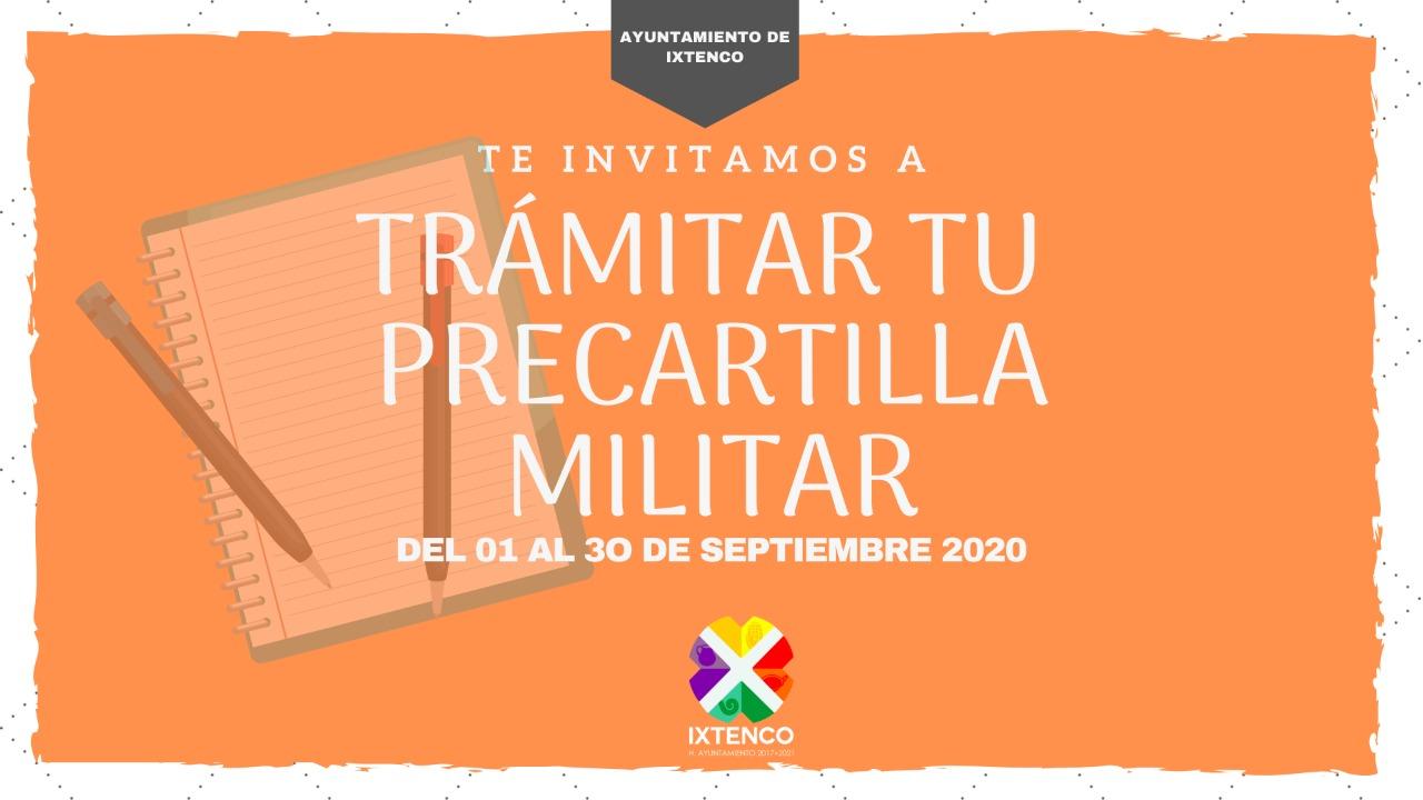Septiembre único mes para tramitar la precartilla militar en Ixtenco
