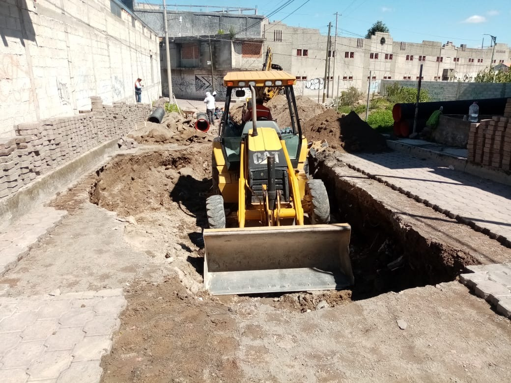 Ayuntamiento de San Pablo Del Monte soluciona problema de socavón en San Sebastián