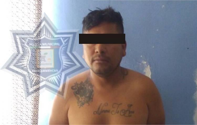 Por una riña con su pareja sentimental, cae presunto narcomenudista en Yauhquemehcan