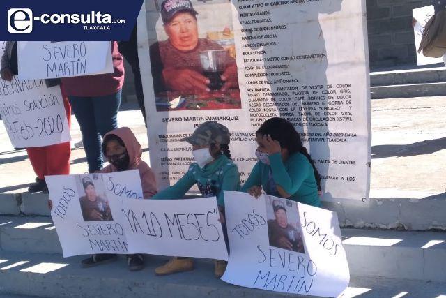 Marchistas piden esclarecer la desaparición de Severo Martín; acusan tortuguismo