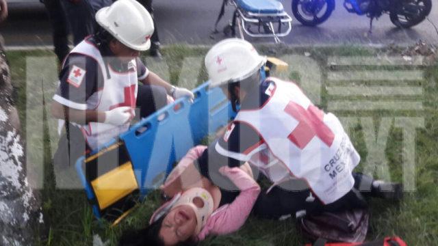 Motociclista se derrapa por impertinente