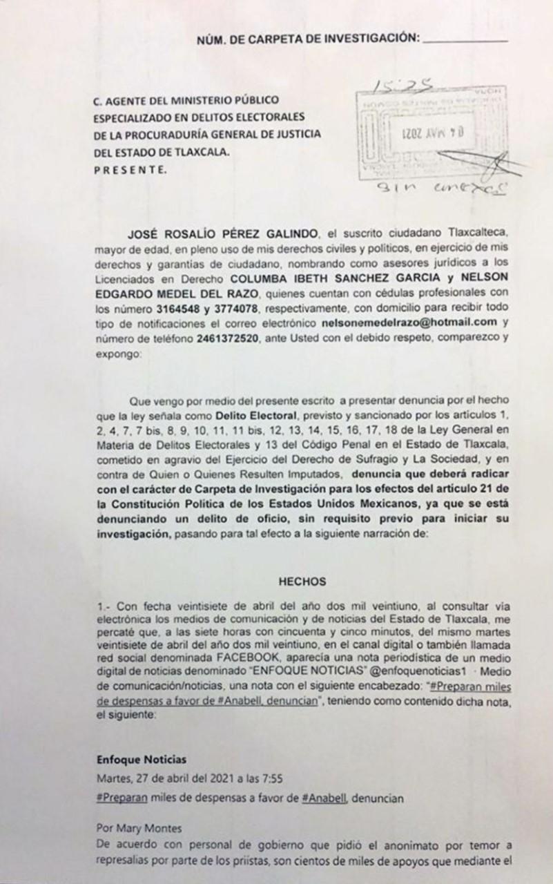 Presentan denuncias por reparto de despensas a favor de Anabell Ávalos