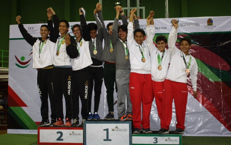 Gana Tlaxcala oro en squash de Olimpiada Nacional