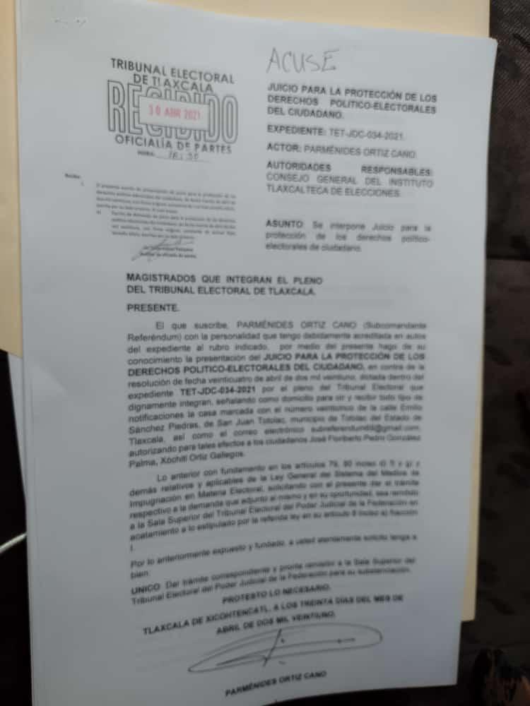 Parménides Ortiz insiste en echar abajo la candidatura de Lorena Cuéllar