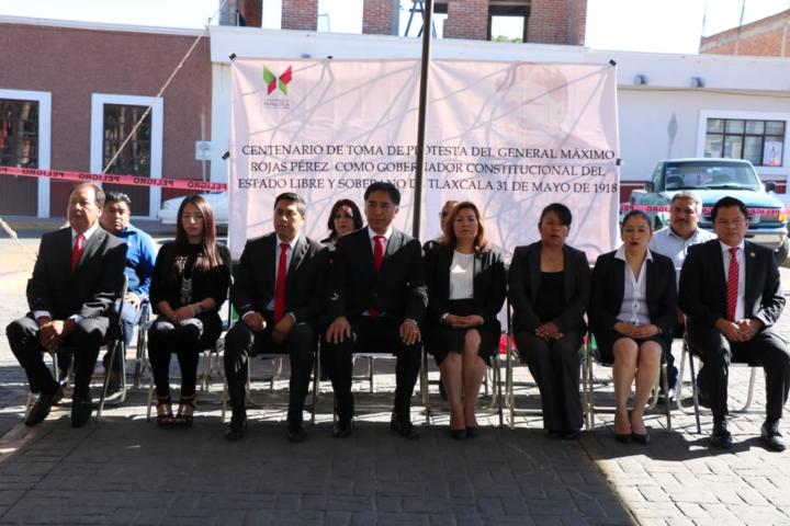 Conmemoran el centenario del Gral. Máximo Rojas como gobernador de Tlaxcala en Papalotla
