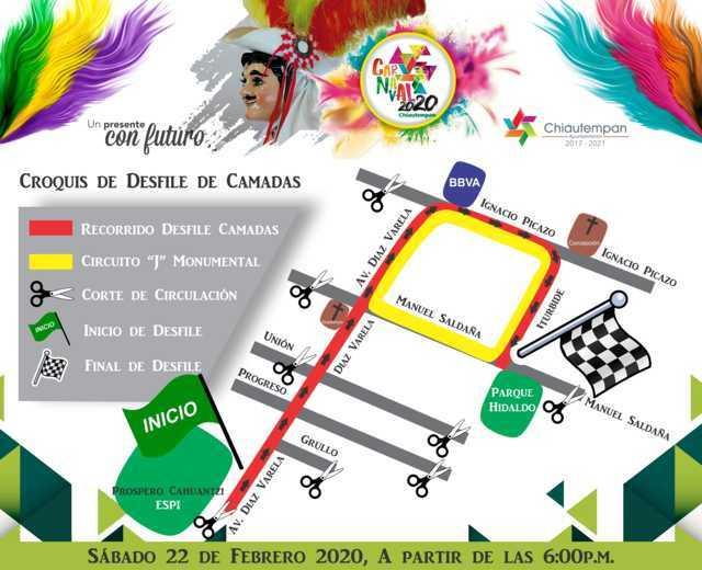 Baile monumental de la J lo nuevo en Carnaval Chiautempan 2020