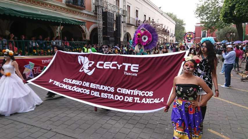 Participa EMSaD en Desfile de Feria Tlaxcala 2019