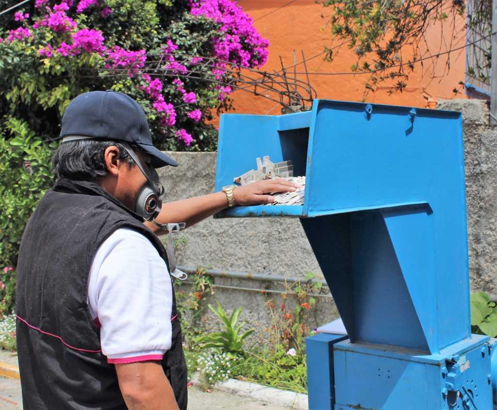 INE Tlaxcala trituró más de 29 mil formatos de credencial y CPV