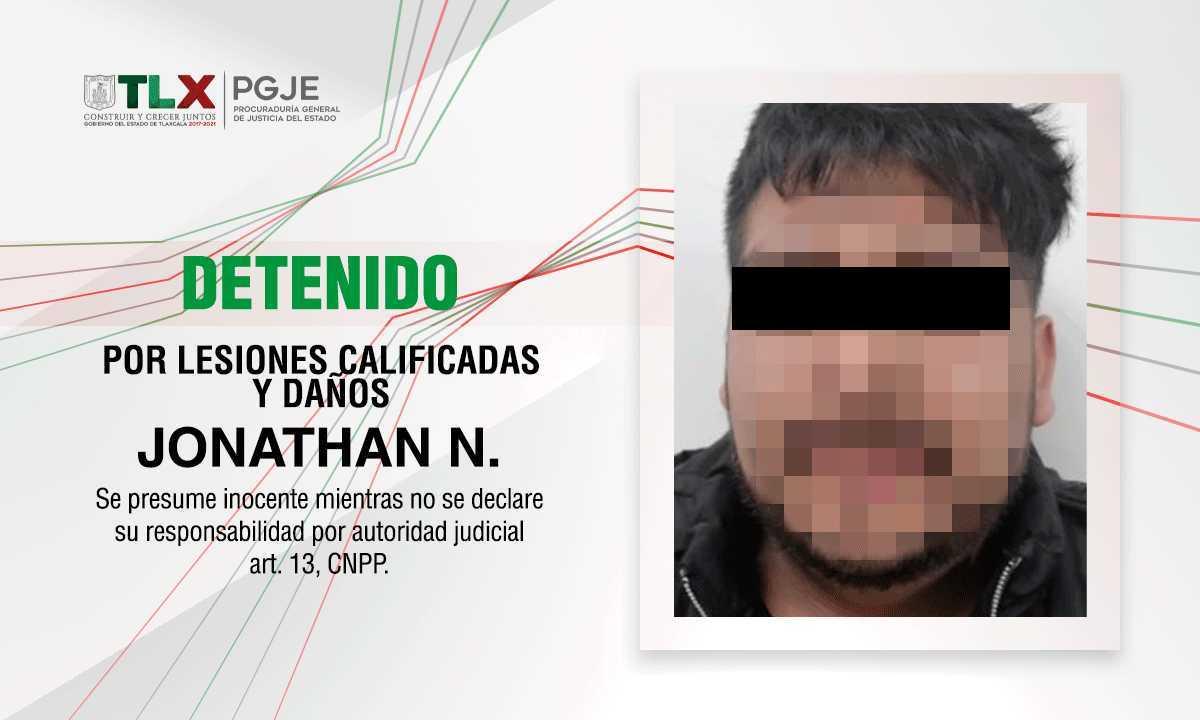 Detienen a sujeto violento que durante operativo golpeó a personal de PC en Ixtacuixtla