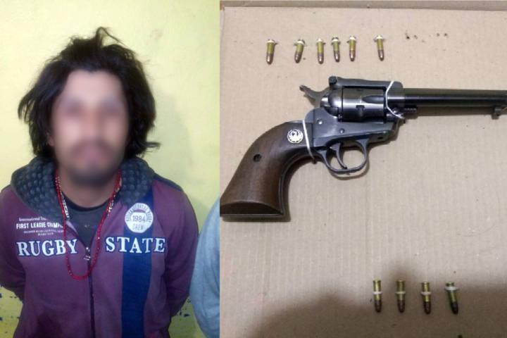 Policías municipales detienen a 3 sujetos con arma de fuego y con historial delictivo