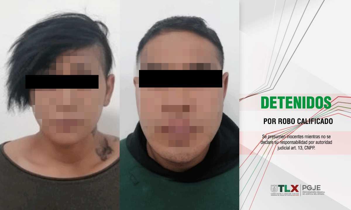 Son detenidos pareja de novios que se dedicaba a robar automóviles en Tlaxcala