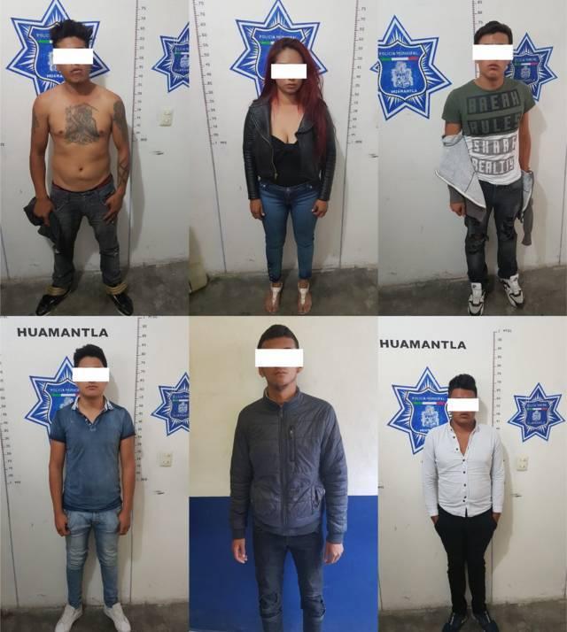 Policía municipal dan duro golpe a la delincuencia detienen a 6 presuntos asaltantes