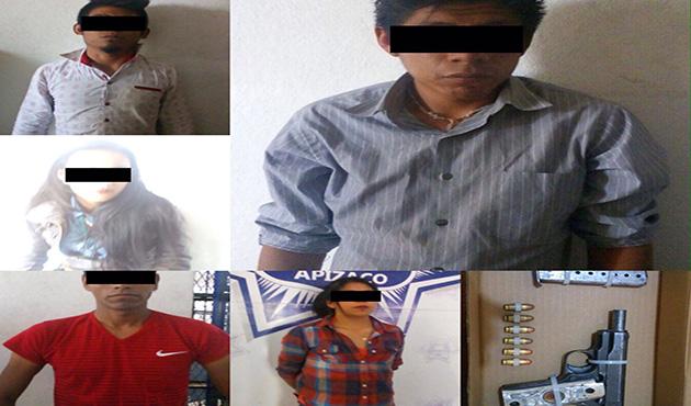 5 detenidos por andar
