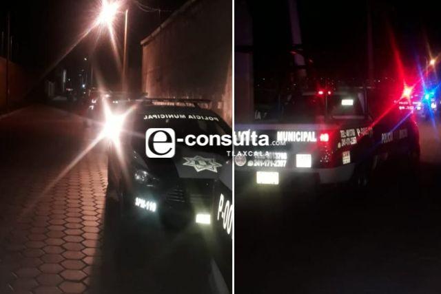 Policía Municipal de Santa Cruz Tlaxcala suspende bautizo en San Miguel Contla