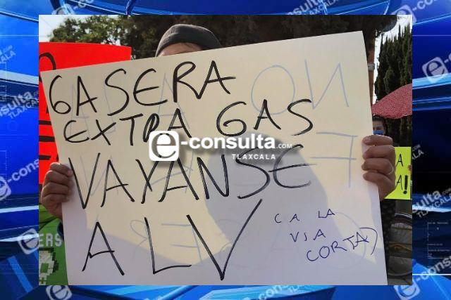 Se inconforman pobladores de Chiautempan por la instalación de una gasera