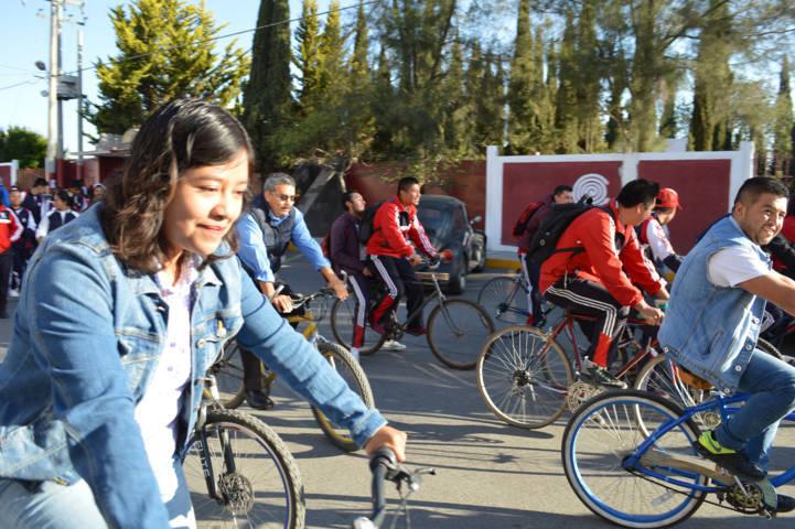 Calpulalpan se suma al festejo del Día Internacional de la Bicicleta