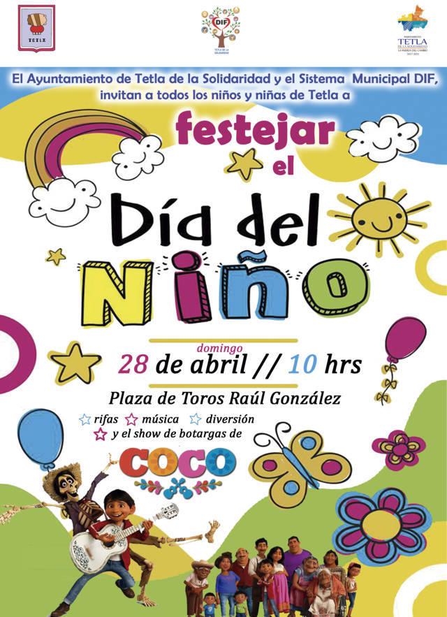 Ayuntamiento prepara festejo del Día del Niño para el domingo 28 de abril