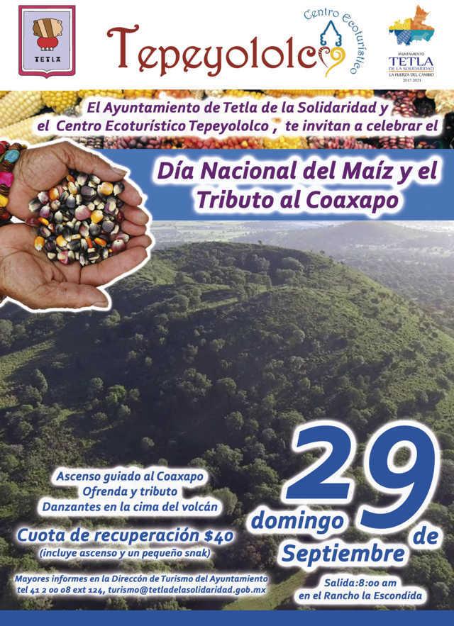 Tetla celebrara este 29 de septiembre Día Nacional del Maíz