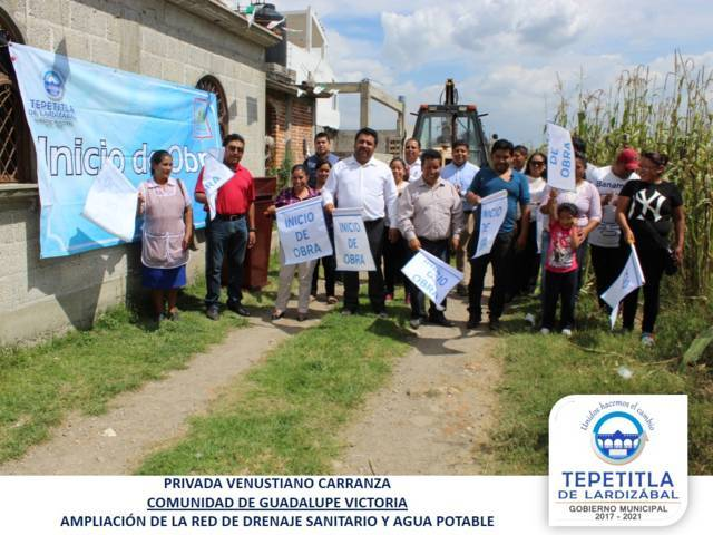 Arranca obra pública en San Mateo Ayecac y Guadalupe Victoria