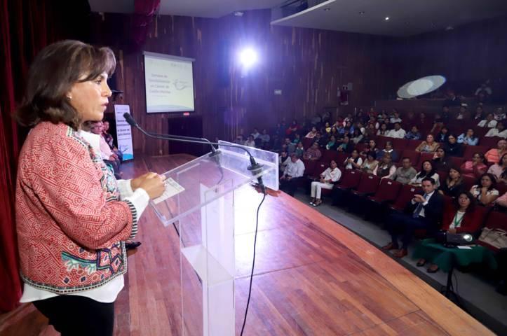 Inaugura Sandra Chávez actividades de la Semana De Sensibilización En Cáncer De Cuello Uterino