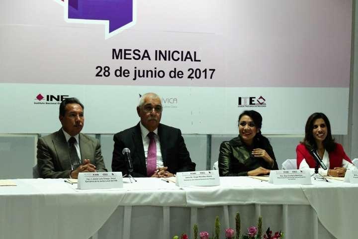 Conversan 41 participantes en la Mesa Estatal de Diálogos del INE e ITE