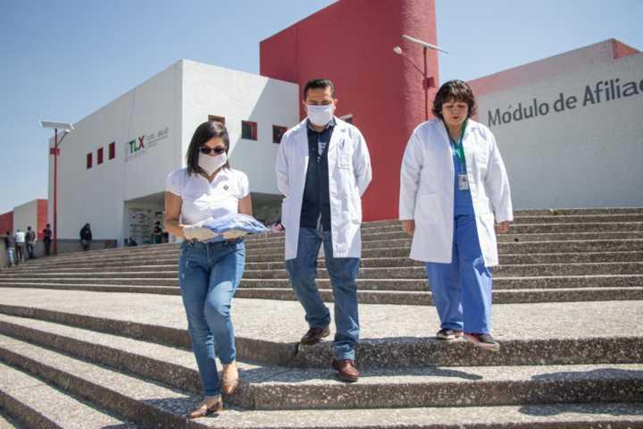 Entrega Leticia Hernández insumos a médicos de Tlaxcala