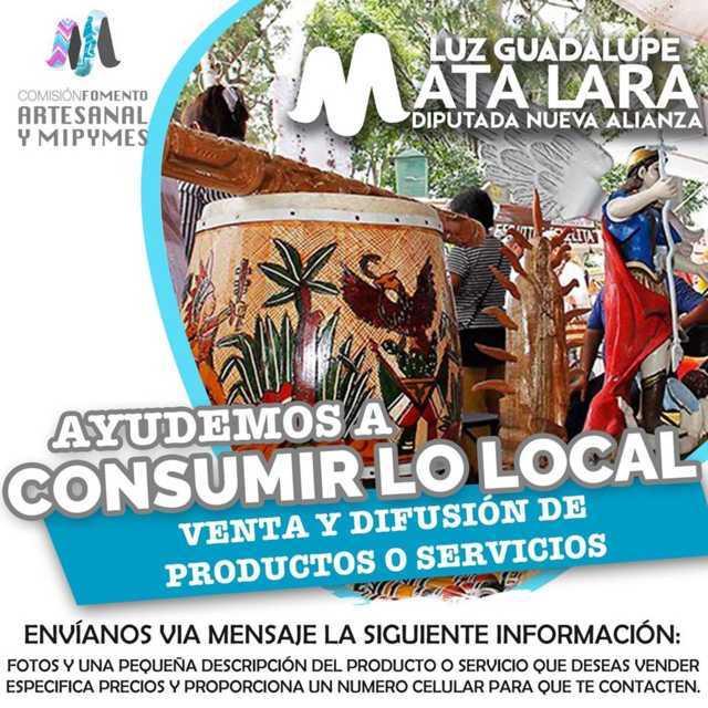 Convoca Luz Guadalupe Mata Lara al consumo de productos artesanales y de Mipymes de Tlaxcala