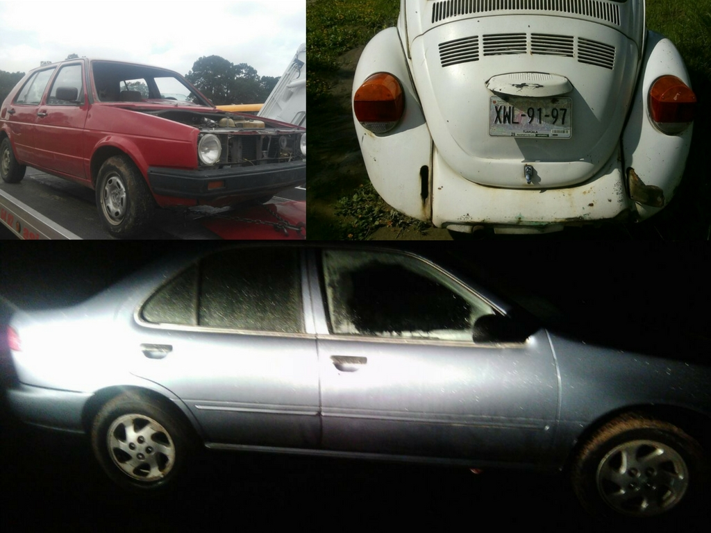Policía de Tetla recupera tres unidades vehiculares con reporte de robo