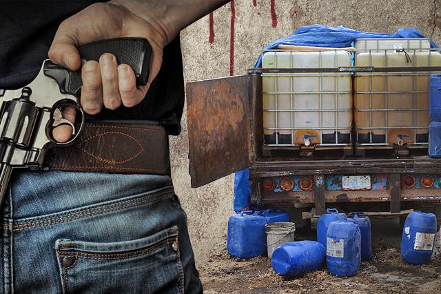 Huachicolero es detenido en inmediaciones de la Colonia Loma Bonita