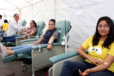 Más de mil 500 personas voluntariamente donaron sangre