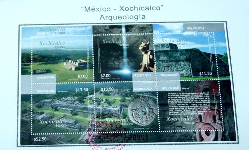 """Cancelan estampilla alusiva a la arqueología """"México-Xochicalco"""""""